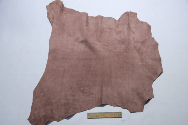 Велюр МРС (коза), грязно-розовый, 35 дм2.-110238