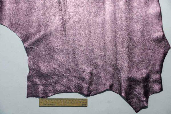 Велюр МРС (коза) с покрытием, сиреневый металлик, 34 дм2.-110239