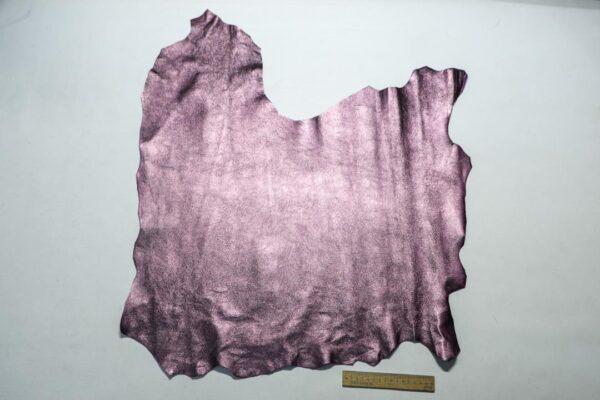 Велюр МРС (коза) с покрытием, сиреневый металлик, 40 дм2.-110241