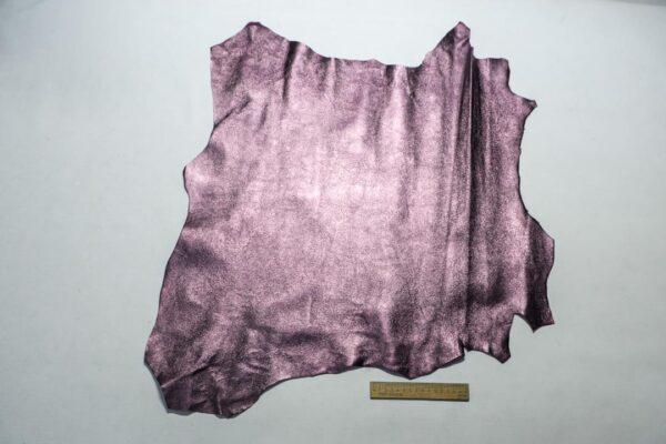 Велюр МРС (коза) с покрытием, сиреневый металлик, 41 дм2.-110242