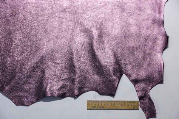 Велюр МРС (коза) с покрытием, сиреневый металлик, 39 дм2.-110243