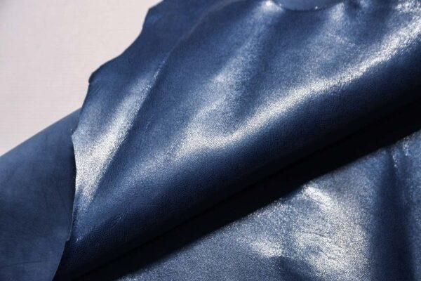 Велюр МРС (коза) с покрытием, серо-синий, 38 дм2.-110244