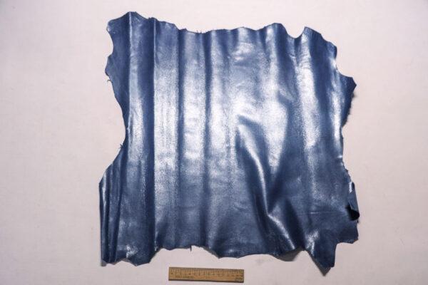 Велюр МРС (коза) с покрытием, серо-синий, 36 дм2.-110245