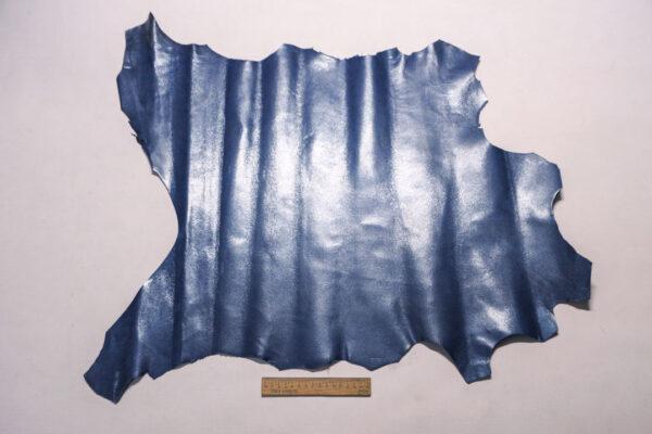 Велюр МРС (коза) с покрытием, серо-синий, 38 дм2.-110246