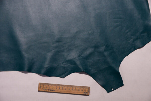 Кожа МРС, темно-бирюзовая, 42 дм2, Russo di Casandrino S.p.A.-110264