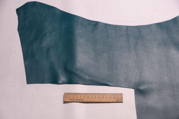 Кожа МРС, темно-бирюзовая, 46 дм2, Russo di Casandrino S.p.A.-110265