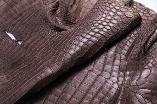 Кожа крокодила, капучино, 137х48 см.- kr-388