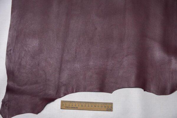 Кожа МРС, бордовая, 52 дм2.-110296