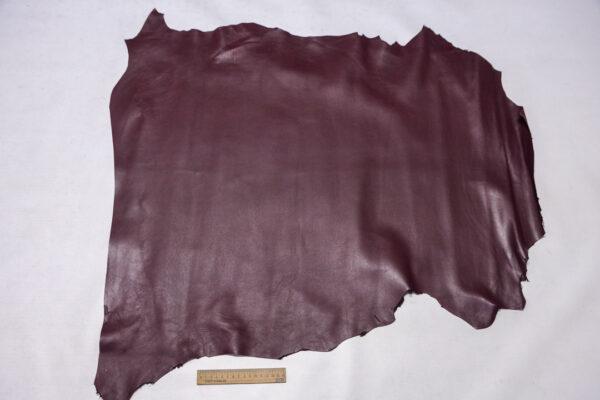 Кожа МРС, бордовая, 62 дм2.-110297