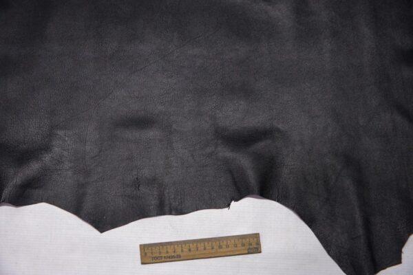Кожа МРС с тиснением, черная, 50 дм2.-110330