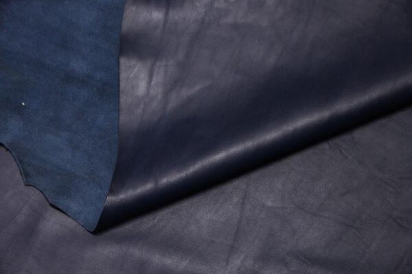 Кожа МРС, синяя, 76 дм2.-110348