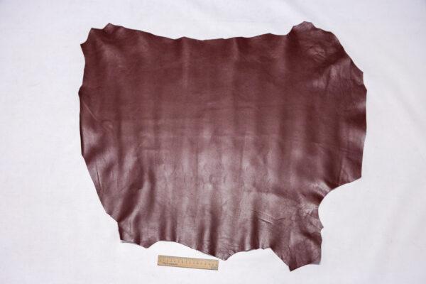 Кожа МРС, бордово-коричневая, 58 дм2.-110349