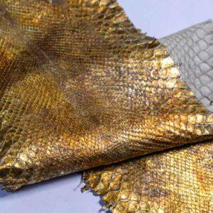 Кожа питона, золотая, 171х24 см.-zm1-89