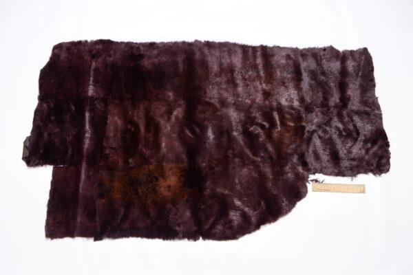 Меховая пластина из кролика, коричневая, 59 дм2.-110473
