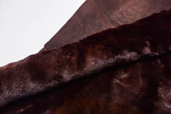 Меховая пластина из кролика, коричневая, 70 дм2.-110474