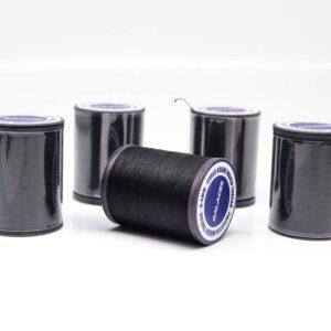 """Нить """"GALACES"""" вощеная круглая плетеная с сердечником 0,4 мм. Черная-s999"""
