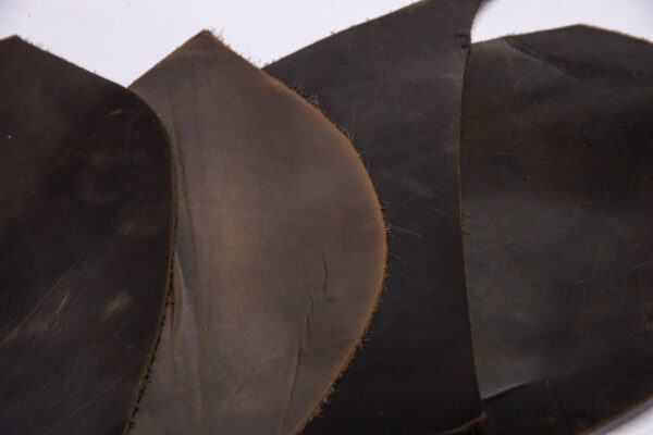 Кожа КРС крейзи хорс (Crazy Horse) с эффектом пул ап (Pull Up), темно-коричневая, 15 дм2.-1-510