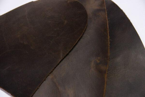 Кожа КРС крейзи хорс (Crazy Horse) с эффектом пул ап (Pull Up), темно-коричневая, 17 дм2.-1-517