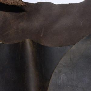 Кожа КРС крейзи хорс (Crazy Horse) с эффектом пул ап (Pull Up), темно-коричневая, 16 дм2.-1-522