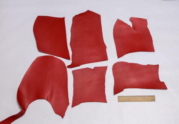 Кожа КРС, красный, 19 дм2.-1-544
