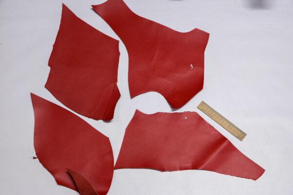 Кожа КРС, красный, 23 дм2.-1-545