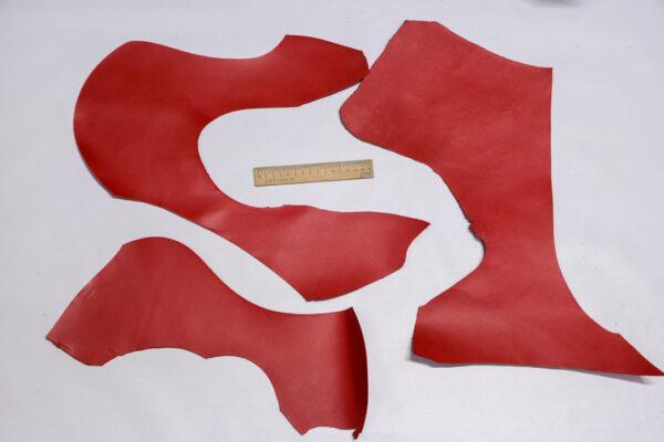 Кожа КРС, красный, 23 дм2.-1-546