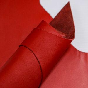 Кожа КРС, красный, 18 дм2.-1-547