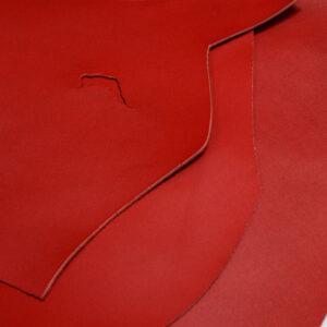 Кожа КРС, красный, 21 дм2.-1-548