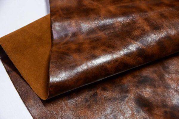 Кожа КРС с эффектом пул ап (Pull Up), коричневая, 119 дм2.-D1-602