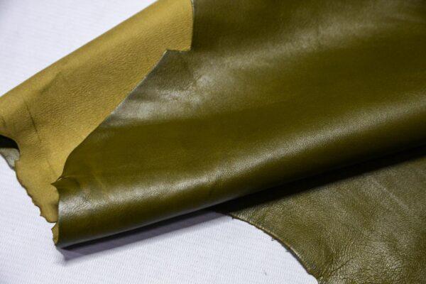 Кожа МРС, оливковая, 52 дм2.-110411