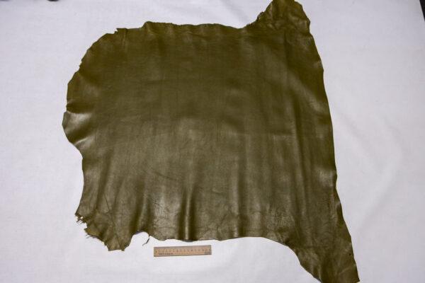 Кожа МРС, оливковая, 65 дм2.-110412