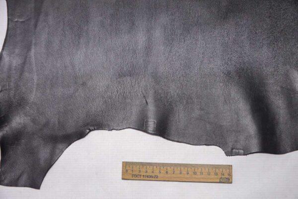 Кожа МРС, графитовая, 39 дм2, Conceria Stefania S. p. A.-110416