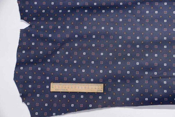 Кожа КРС сафьяно (Saffiano) с принтом, темно-синяя, 82 дм2, Dolmen S.p.A.-110481