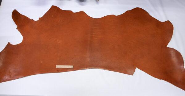 Кожа ременная КРС(вороток), краст, рыжая, 116 дм2.-110478