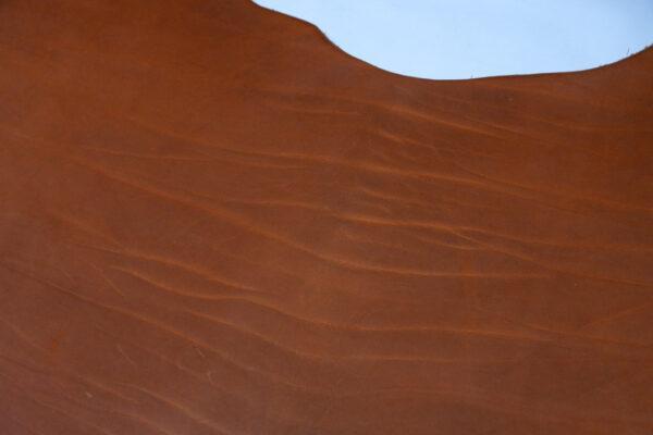 Кожа ременная КРС(вороток), краст, рыжая, 125 дм2.-110479