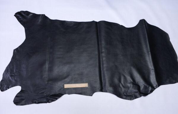 Кожподклад свиной (спилок) вощёный, черный, 68 дм2.-PT1-124