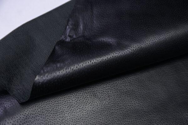 Кожподклад свиной (спилок) вощёный, черный, 66 дм2.-PT1-125