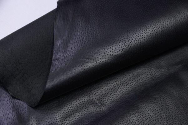 Кожподклад свиной (спилок) вощёный, черный, 57 дм2.-PT1-127