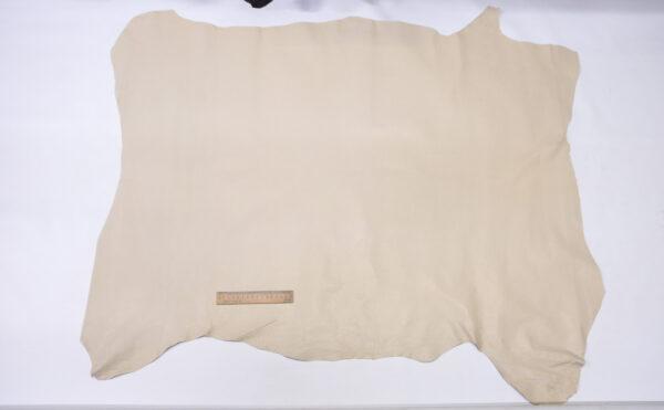 Кожподклад свиной (спилок) вощёный, светло-бежевый, 93 дм2.-PT1-129