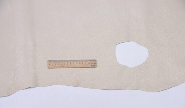 Кожподклад свиной (спилок) вощёный, светло-бежевый, 82 дм2.-PT1-131