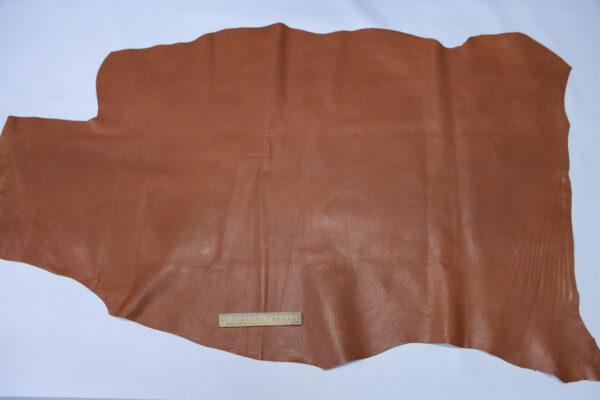 Кожподклад свиной (спилок) вощёный, коньячный, 83 дм2.-PT1-132