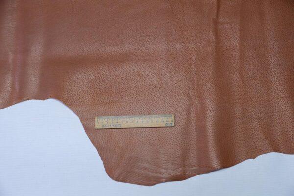 Кожподклад свиной (спилок) вощёный, коньячный, 71 дм2.-PT1-133