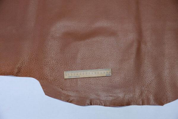 Кожподклад свиной (спилок) вощёный, коньячный, 91 дм2.-PT1-134