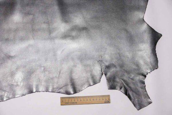 Кожа МРС, графитовый металлик, 41 дм2, Conceria Liberty S.r.l.-110461