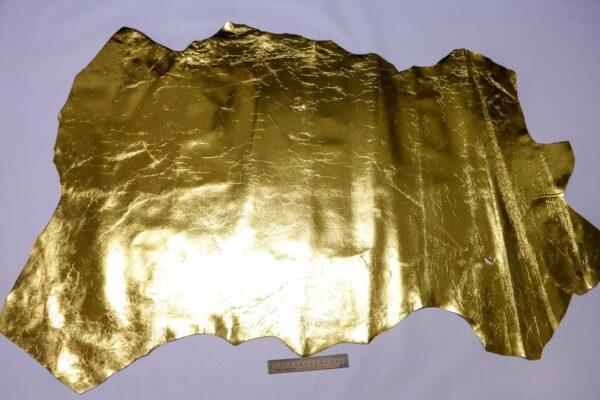 Кожа теленка, золотая, 86 дм2.-110469