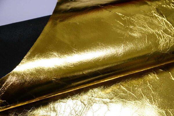 Кожа теленка, золотая, 93 дм2.-110470