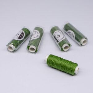 """Нить """"GALACES"""" вощеная круглая 0,45 мм. Зеленая-s033"""