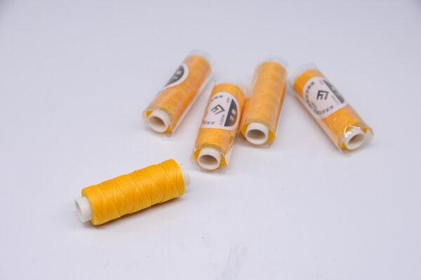 """Нить """"GALACES"""" вощеная круглая 0,45 мм. Желтая-s041"""