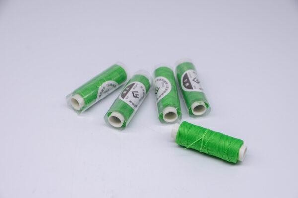 """Нить """"GALACES"""" вощеная круглая 0,45 мм. Ярко-зеленая-s065"""