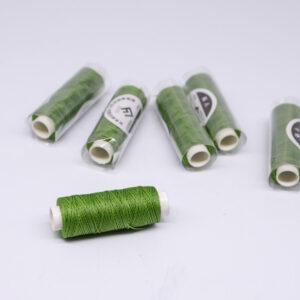 """Нить """"GALACES"""" вощеная круглая 0,55 мм. Зеленая-s033"""